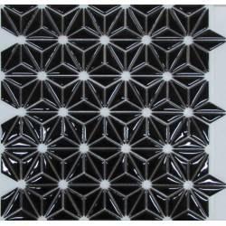 LIYA Mosaic Flowers Black керамическая плитка-мозаика