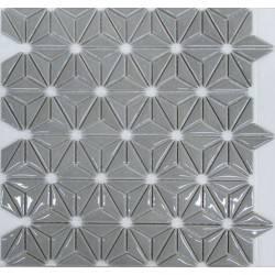 LIYA Mosaic Flowers Grey керамическая плитка-мозаика