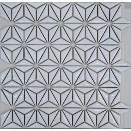 LIYA Mosaic Flowers White керамическая плитка-мозаика