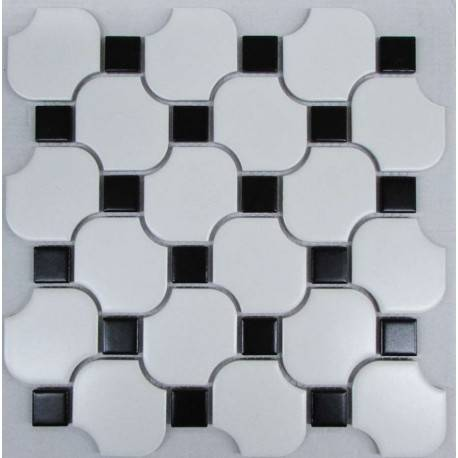 LIYA Mosaic White Wave Octagon керамическая плитка-мозаика