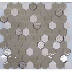 Hexagon Beige Glass