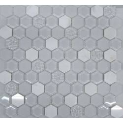 Hexagon White Glass