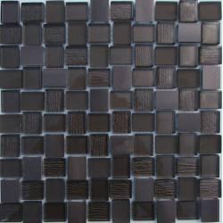 LIYA Mosaic YDB301 микс стеклянной и алюминиевой плитки-мозаики